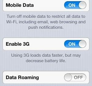 Disable 3G to improve mobile signal reception